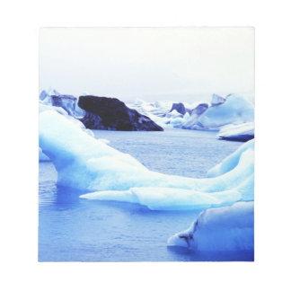 Icebergs at Jokulsarlon Lagoon Notepad