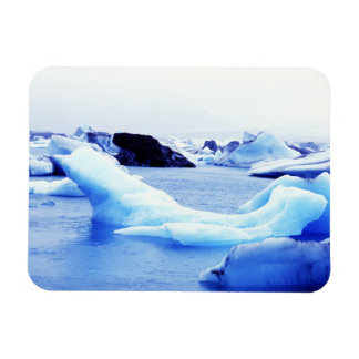 Icebergs at Jokulsarlon Lagoon Rectangular Photo Magnet