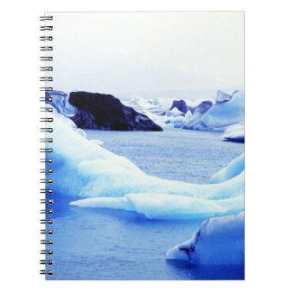 Icebergs at Jokulsarlon Lagoon Spiral Note Book