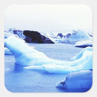 Icebergs at Jokulsarlon Lagoon Square Sticker