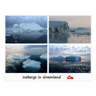 Icebergs in Greenland 3 Postcard