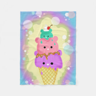 Icecream Bears Fleece Blanket