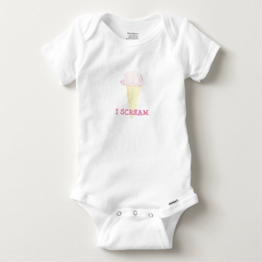 icecream i scream baby bodysuit