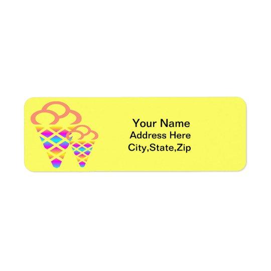 Icecream Return Address Lables Return Address Label