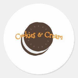 icecream sandwich_Cookies & Cream Classic Round Sticker