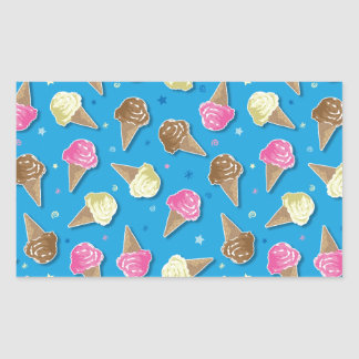Icecreams Rectangular Sticker