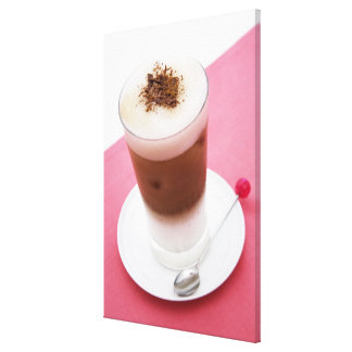Iced Cappuccino Stretched Canvas Prints