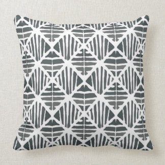 Iced coal large pattern throw pillow