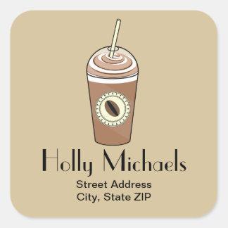 Iced Coffee Address Sticker