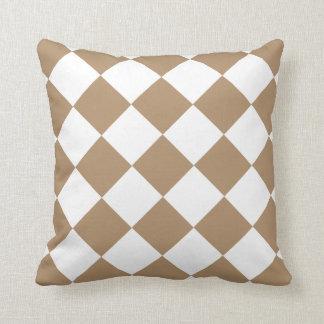 Iced Coffee Brown Diamond Pattern Throw Cushions