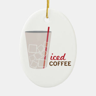 Iced Coffee Christmas Ornament