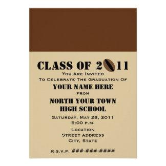 Iced Coffee & Coffee Beans 2011 Graduation Custom Invitation