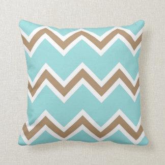 Iced Coffee Limpet Shell White Chevron Stripes Cushion