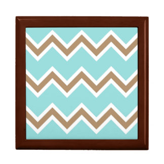 Iced Coffee Limpet Shell White Chevron Stripes Gift Box
