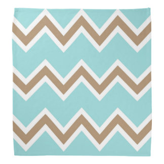 Iced Coffee Limpet Shell White Chevron Stripes Head Kerchief