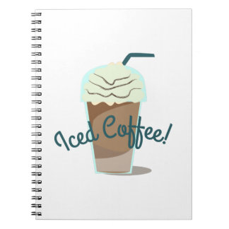 Iced Coffee Spiral Note Books