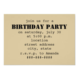 Iced Coffee To Go Birthday Party 13 Cm X 18 Cm Invitation Card