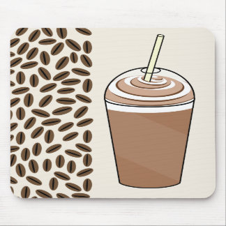 Iced Coffee To Go & Coffee Beans Mousepad