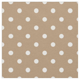Iced Coffee & White Polka Dot Fabric