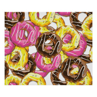 Iced Doughnuts Posters