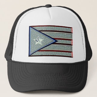 Iced Out Puerto Rican Flag Trucker Hat