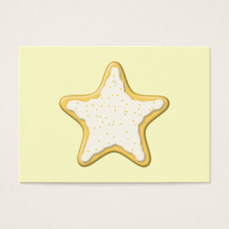 Iced Star Cookie. Yellow and Cream. Business Card