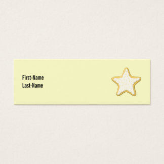 Iced Star Cookie. Yellow and Cream. Mini Business Card