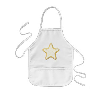Iced Star Cookie. Yellow and White. Kids Apron