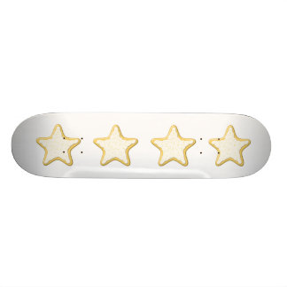 Iced Star Cookie. Yellow and White. Skateboard Deck