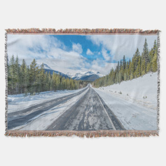 Icefields Parkway Throw Blanket
