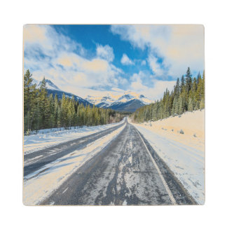 Icefields Parkway Wood Coaster