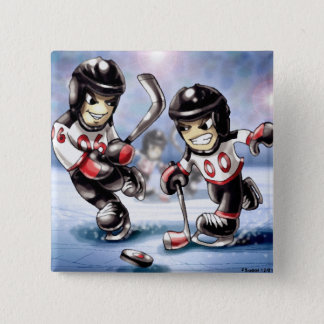 icehockey 15 cm square badge