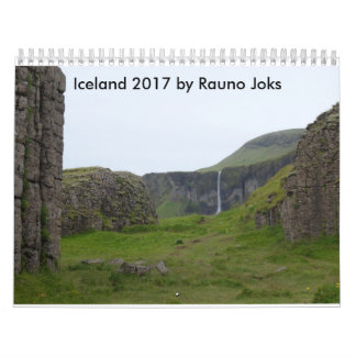 Iceland 2017 by Rauno Joks Wall Calendars