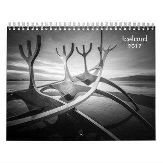 Iceland B&W Wall Calendar