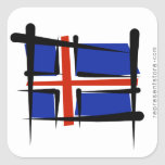 Iceland Brush Flag