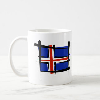 Iceland Brush Flag Coffee Mug