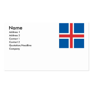 Iceland Business Card Template