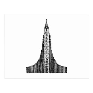 Iceland Cathedral (Hallgrimskirkja) Postcard
