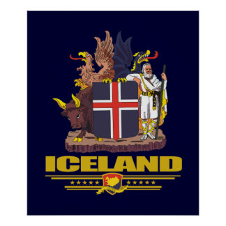 Iceland COA Poster