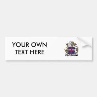 Iceland Coat of Arms Bumper Sticker