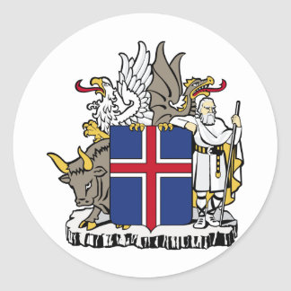 Iceland Coat Of Arms Classic Round Sticker
