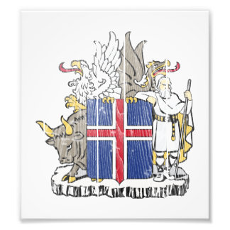 Iceland Coat Of Arms Photographic Print