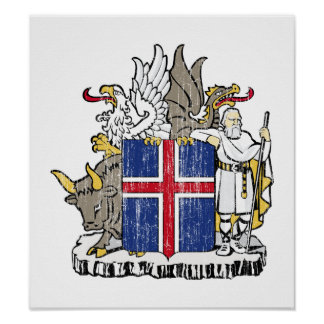 Iceland Coat Of Arms Poster