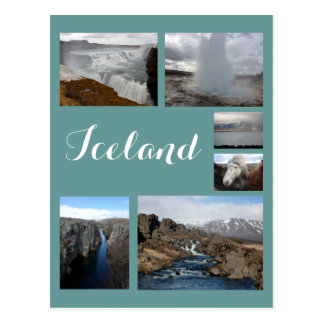 Iceland Collage 2 Postcard