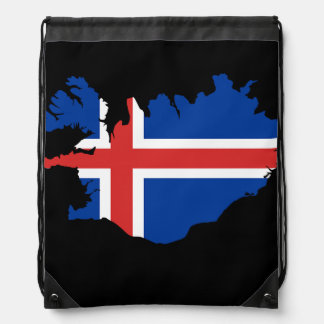 Iceland country flag drawstring bag