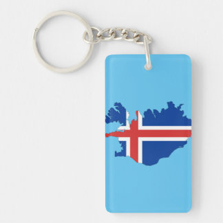 Iceland country flag key ring
