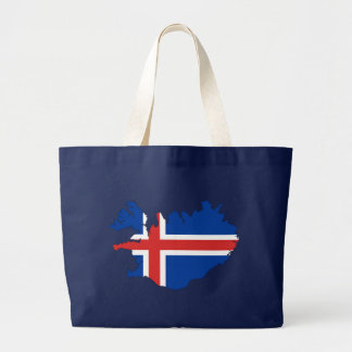 Iceland country flag large tote bag