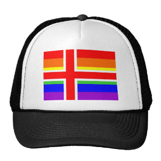 iceland country gay proud rainbow flag homosexual mesh hats