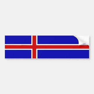 Iceland country long flag nation symbol republic bumper sticker