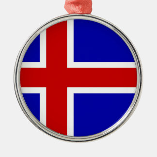 Iceland country long flag nation symbol republic christmas ornament